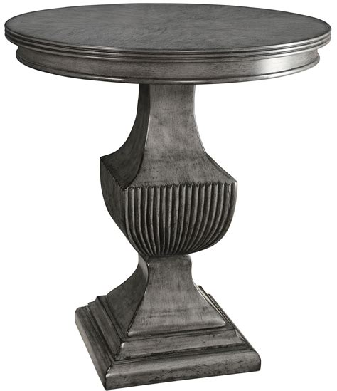 gray accent table magnet burnished grey round accent table from coast to