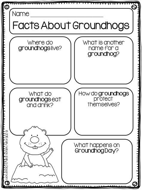 groundhog day viewing worksheet groundhogs groundhog day animal research taking notes