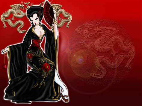 geisha tattoo wallpaper japanese geisha wallpaper wallpapersafari