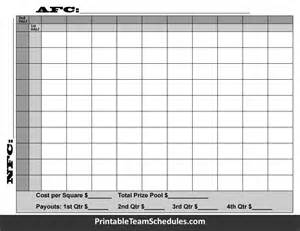 printable superbowl squares template bowl squares 2016 template 100 squares