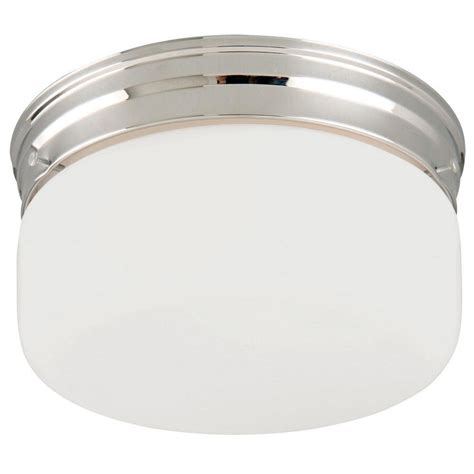 Chrome Lighting Fixtures Design House 2 Light Chrome Ceiling Mount Fixture With White Opal Glass 501965 The Home Depot