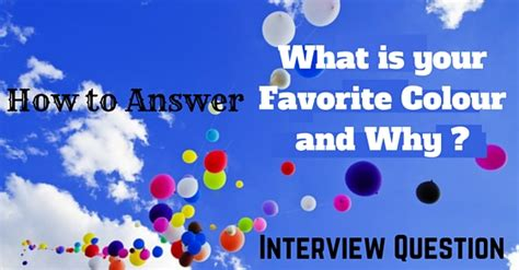 what is your favorite color how to answer what is your favorite colour and why