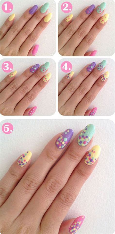 nail art tutorial for beginners step by step 20 easy step by step summer nail art tutorials for