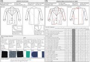 Garment Spec Sheet by Barrett College Of Fashion Showtime