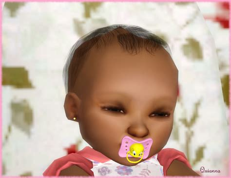 sims 3 baby hair sims3pack curly hair quianna little sunshine earrings