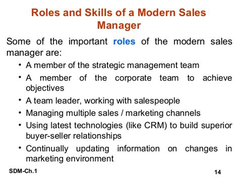 sle of skills introduction to sales and distribution management
