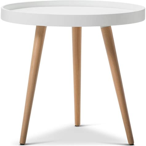 white top side table scandinavian side table w tray top in white buy