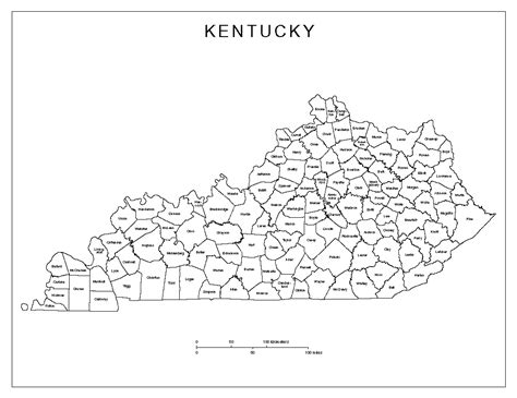map of kentucky counties kentucky labeled map