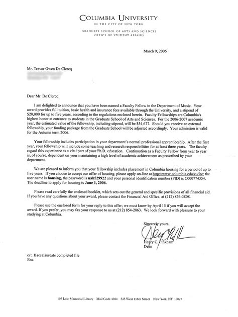 Roanoke College Letter Of Recommendation Acceptance Letter Sle Cover Letter Templates