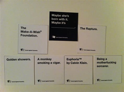 Words Against Humanity Cards Pub Trivia Cards Against Humanity Molly S Pub Westchase