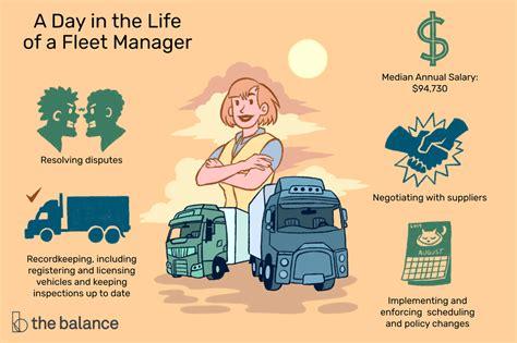 fleet manager job description salary skills