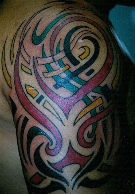 tribal tattoo color 19 unique colorful tribal tattoos only tribal