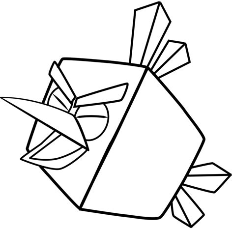 Angry Birds Ice Bird Coloring Pages | how to draw ice bird from angry birds space with easy step