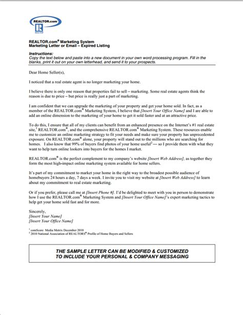 real estate letter templates prospecting letter template letter template 2017