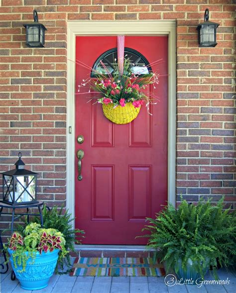 spring decorating ideas for your front door refresh your home with southern front porch decorating ideas