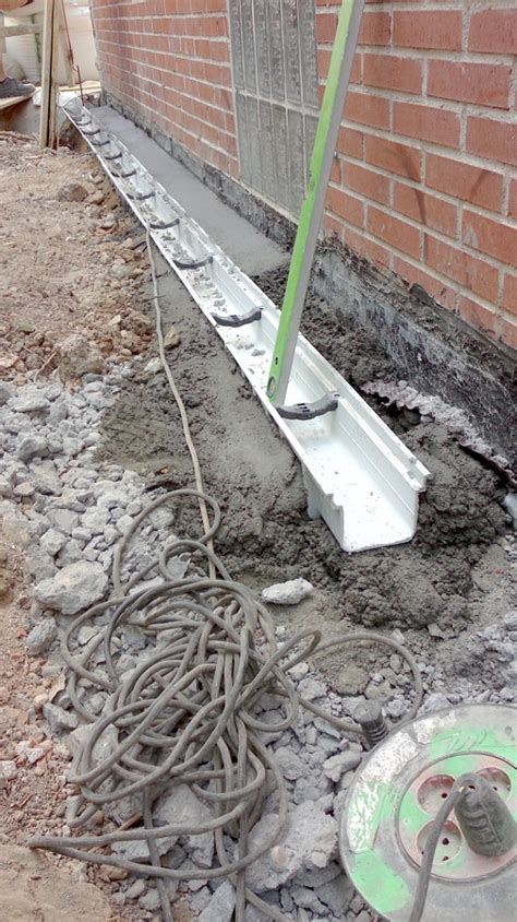 Slab House Plans foto canaleta de drenaje superficial de urbadec amp obras s l