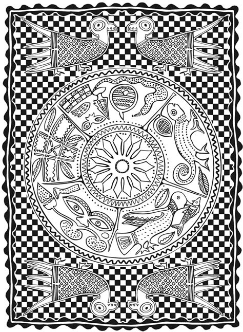 african patterns coloring pages welcome to dover publications