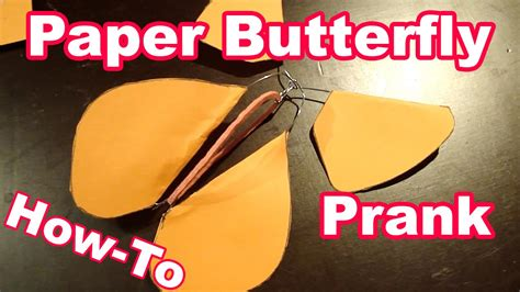 How To Make A Paper Butterfly That Flies - flying paper butterfly prank moved