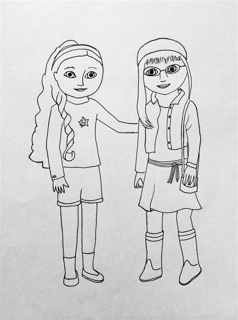 printable coloring pages american girl dolls my american girl coloring pages