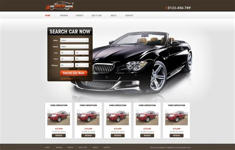 template for a car car dealer website template free car dealer web