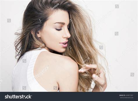 Shiny Hair Brightens A Lifestyle Magazine by Beautiful Shiny Hair Bright Stock Photo