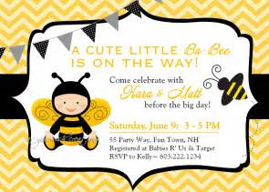 bee themed baby shower invitations theruntime