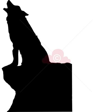 howling wolf silhouette die cuts  crafty wolf