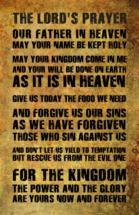 The Lord Prayer the lord s prayer print 16 quot x 20 quot warrior nations