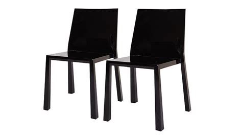 design noir meaning lot de 2 chaises design en polycarbonate fergys mobilier