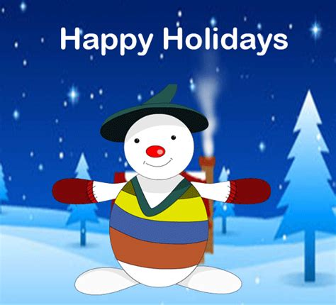 snowman holiday card  happy holidays ecards greeting cards