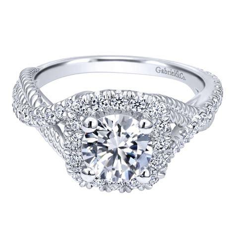 gabriel co engagement rings halo 18ctw beautiful diamonds