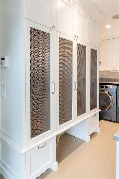Mudroom Cabinets With Doors by Gorgeous Laundry Room And Mudroom Combo Is Equipped With