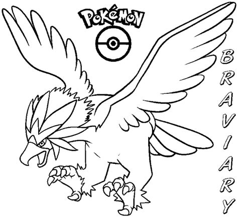 pokemon coloring pages braviary coloring books pokemon braviary to print and free download