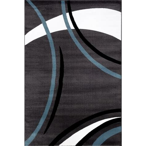 grey modern rug world rug gallery contemporary modern wavy circles gray 7