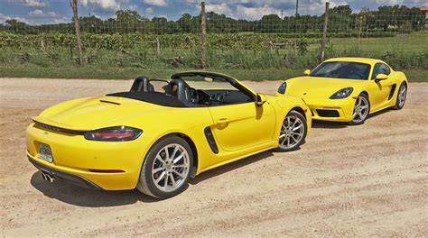 porsche boxster 2017 porsche 718 boxster and boxster s test drive review