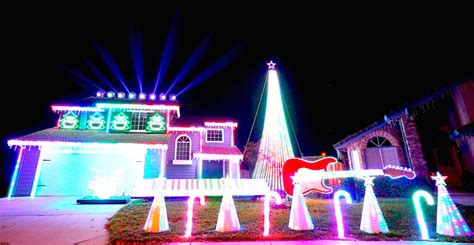 epic star wars christmas light display