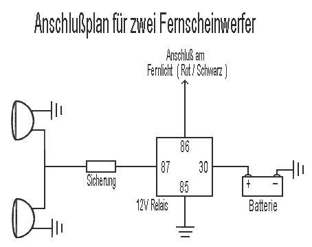 Schaltung Zusatzscheinwerfer Motorrad by Fern Zus 228 Tzlicher 12 V Anschluss Im Kombi F 252 R Die