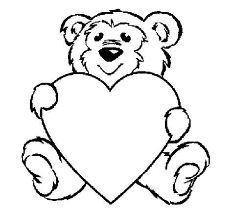 imagenes de osos con corazones para colorear dibujo de oso enamorado para colorear dibujos net
