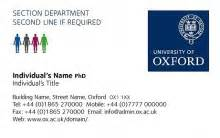 how to write your degree on a business card business cards of oxford
