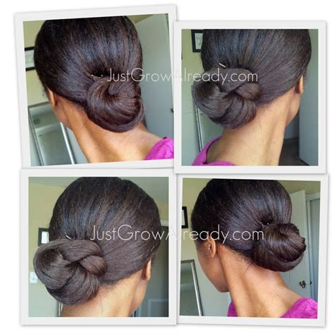 relaxed hair buns 75 best buns images on pinterest
