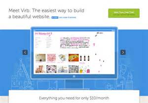virb templates 20 bright and colourful website homepage designs