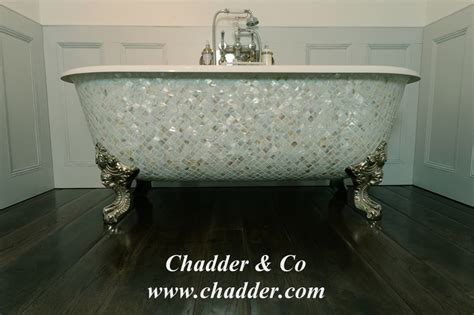Chadite Blenheim Bath with Mother of Pearl Exterior from