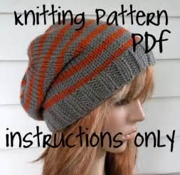 Knit slouchy beanie pattern knit hat pattern chunky easy unisex