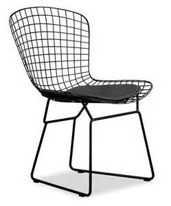 bertoia steel wire chair