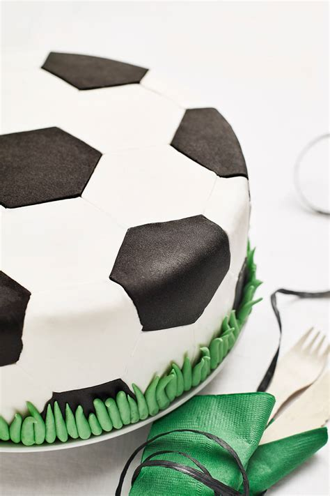soccer ball themed diy fondant birthday cake decorating kit cakest