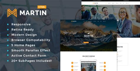 themeforest preview image size martin multipurpose responsive html5 template by