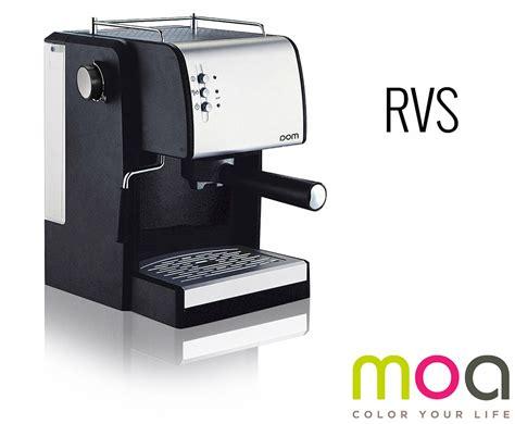 espresso melkopschuimer moa design espressomachine met melkopschuimer zet thuis