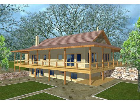 wrap around deck designs ridley woods rustic home plan 088d 0124 house plans and more