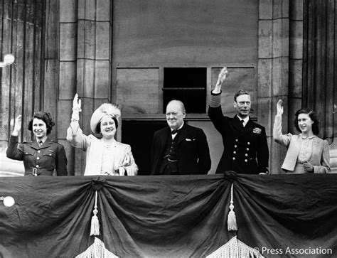 the royal family with sir winston churchill at buckingham