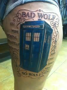 tardis tattoo design bad wolf tardis beautiful tattoos